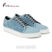 2017 Leather Sneakers Factory UK Style Toe Cap Men Blue Suede Shoes