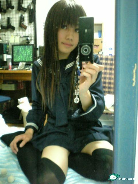 Japanese schoolgirl or cross dresser Mo Li (Molly?)
