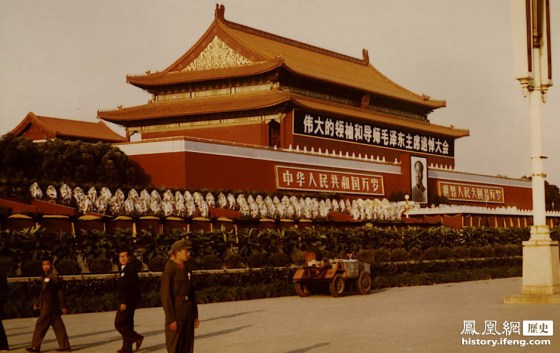 Tiananmen Square following the death of Mao Zedong in 1976.