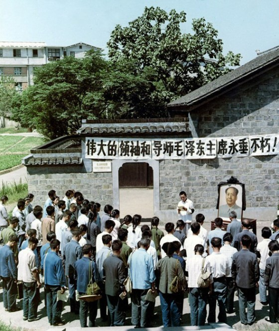 Chinese near Changsha organizing themselves to mourn Mao Zedong's death.