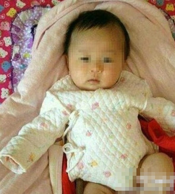 Photo of a 2-month-old infant that was abducted when the car he was in was stolen. The child was later found strangled and bured in the snow by the side of the road.