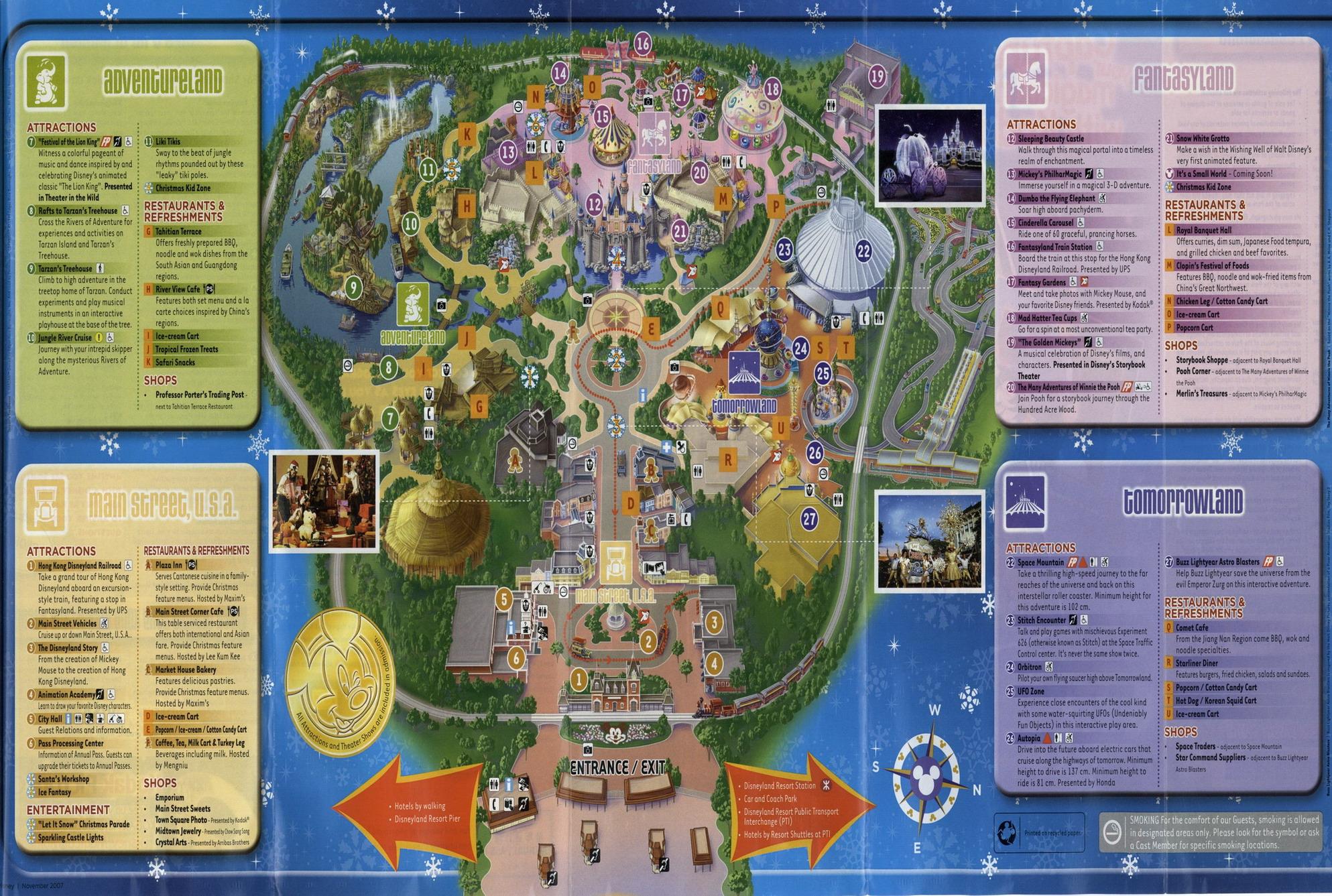 Hong Kong Disneyland Park Map - Hong Kong Maps - China Tour Advisors