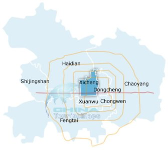 Beijing Xicheng District Map  Xicheng District in Beijing Xicheng District Map