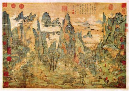 tang ming huang escape to shu