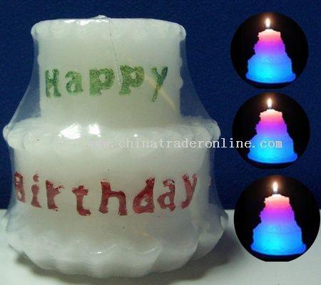 Description: Description Birthday Cake Candle Lamps with 7 Colors