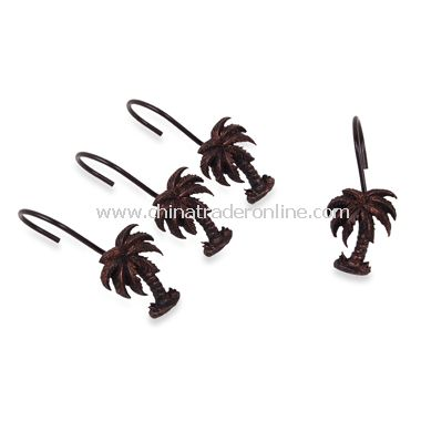 wholesale palm tree oil rubbed bronze shower curtain hooks set of 12 buy discount palm tree oil rubbed bronze shower curtain hooks set of 12 made in china cto40138