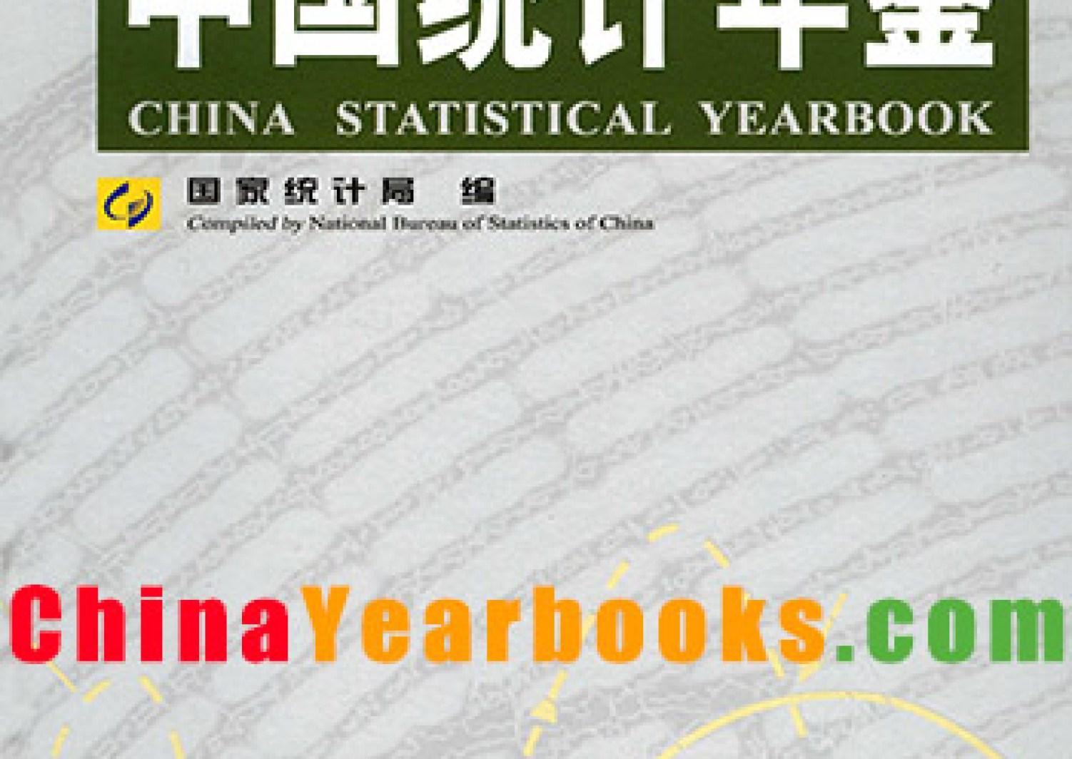 China Statistical Yearbook China Yearbooks
