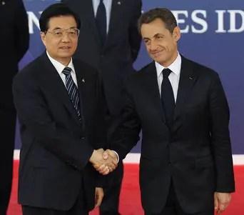Présidents, Hu Jintao (Chine) et Nicolas Sarkozy (France et G20 2011)