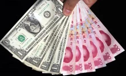 6,8 yuans pour 1 dollar, une première depuis 2010