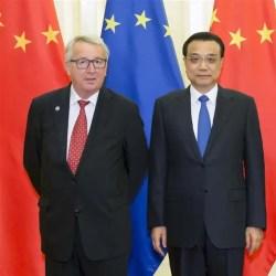 Président de la Commission européenne, Jean-Claude Junker et le Premier ministre, Li Keqiang, juillet 2016 à Beijing