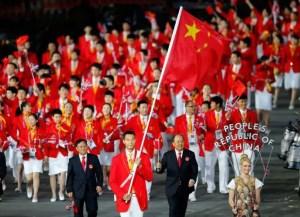 Défilé de la délégation chinoise à Rio