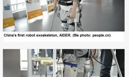 Présentation de l'exosquelette robotique «Made in China»