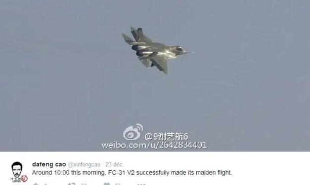 Un nouveau chasseur furtif testé dans le Sichuan