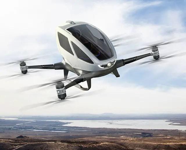 Dubaï se met au taxi drone chinois, EHang 184