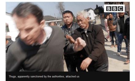 Des journalistes de la BBC agressés dans le Hunan