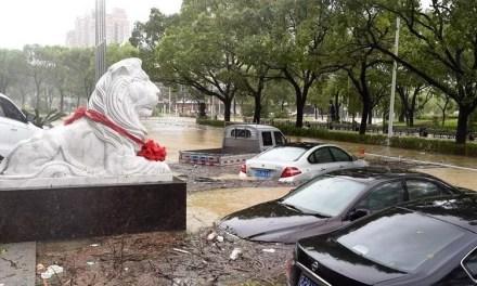 Le typhon Lekima : 13 morts, 16 disparus