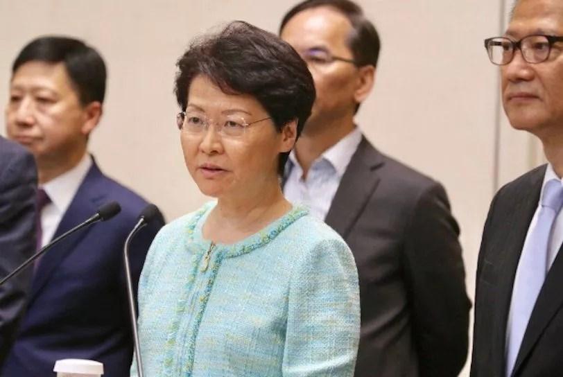 Le gouvernement de Hong Kong est «sincère» pour Carrie Lam