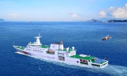 La Chine a lancé son plus grand navire de patrouille maritime dans le détroit de Taïwan