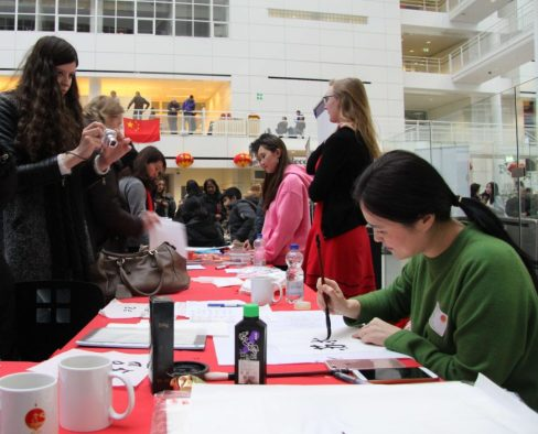 CNY 2017 Market Calligraphy Confucius Institute