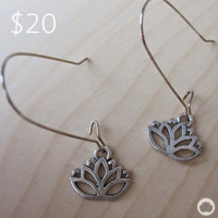 Silver Lotus Earrings : Chinese Medicine Living
