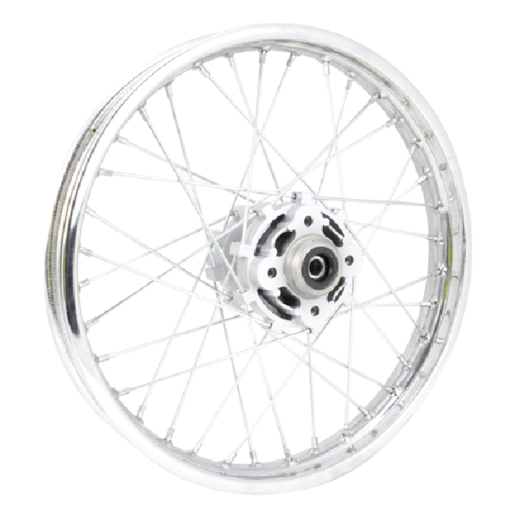 Chrome Off Road Rear Wheel 18x1 85 With Silver Hub Disc