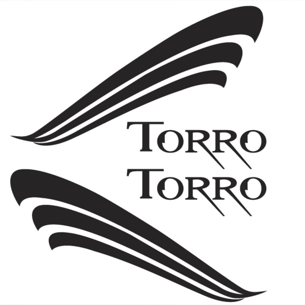 Pionner Torro Sticker Pack Black