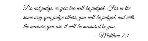 Bible verse Matthew 7:1