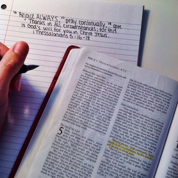 thankful 1 thessalonians 5:16-18