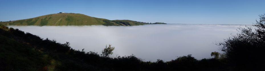Il mare di nuvole che si apre alla vista