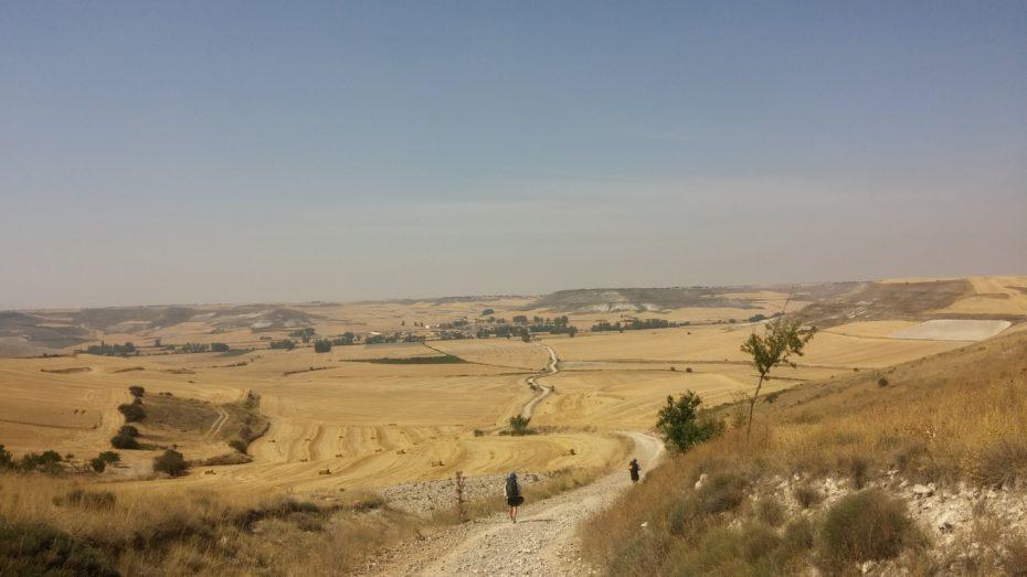 Tipico paesaggio subito dopo Burgos, ancora possiamo vederlo dall'alto