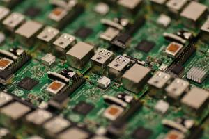 close up shot of circuit board