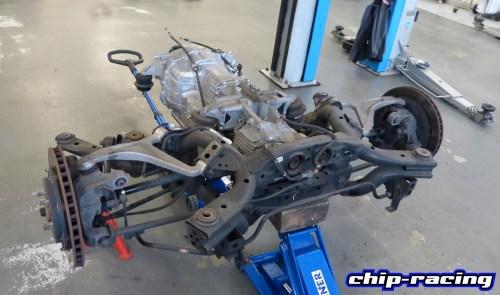 Nissan GTR Getriebe Revisionen: GR6 Getriebe mit kompletter Hinterachse