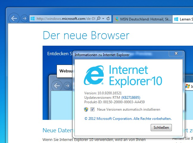 Internet Explorer 10 Final Für Windows 7 64 Bit Download
