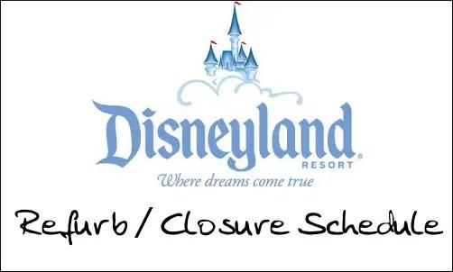 Disneyland Refurbishment Schedule February 2011 1