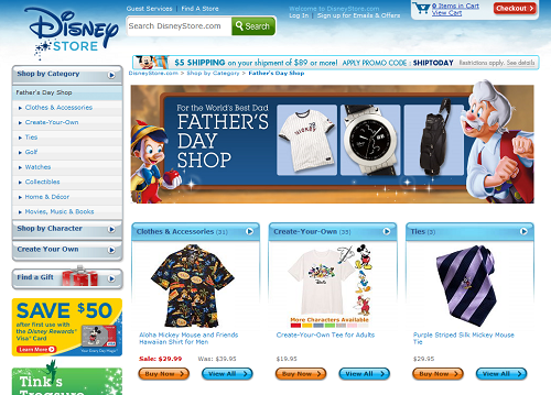 Disney Store Father's Day Shop is now open 1