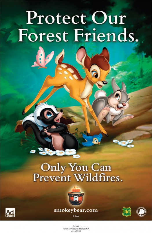 """Smokey Bear & Disney's Bambi Remind Americans """"Only You Can Prevent Wildfires"""" 1"""