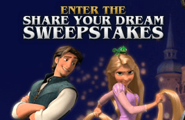 Tangled's Share your Dreams Sweepstakes 2