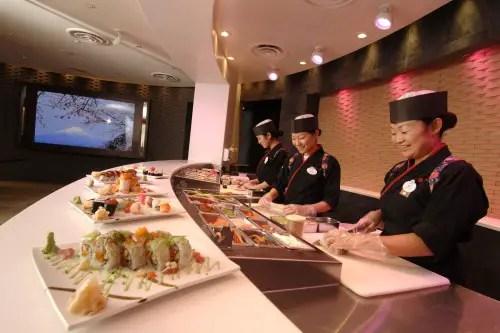 Sushi Bar and Mood Screen at Tokyo Dining