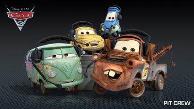 Meet Lightning McQueen and his Crew in the All New Cars 2 1