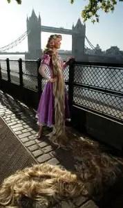 Rapunzel Enjoys Sightseeing At London's Covent Garden 1