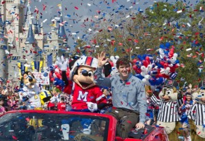 Hero's Welcome New York Giants Quarterback Eli Manning, MVP of Super Bowl XLVI, at Walt Disney World Resort 1