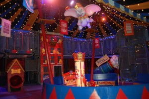 New Interactive Queue in the Big Top Tent at Dumbo The Flying Elephant 1