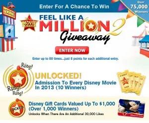 Disney's Feel Like A Million 2 Giveaway 1