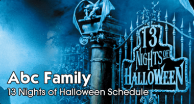 abc family scares up 13 nights of halloween for the 14th consecutive spine tingling year with programming filled with chills and thrills as you countdown