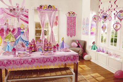 Princess Party Products on Display