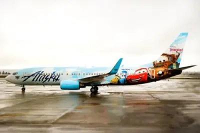 Alaska Airlines Disneyland Plane