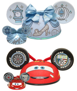 Cinderella and Cars Ear Hats