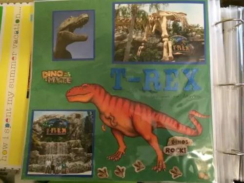 T-Rex Scrapbook Page