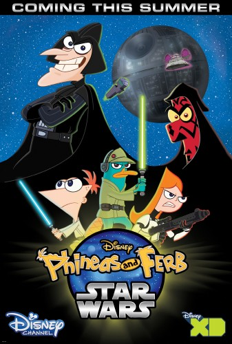 A sneak peak at the poster for the new Phineas and Ferb: Star Wars.