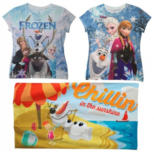 Frozen shirts and towel